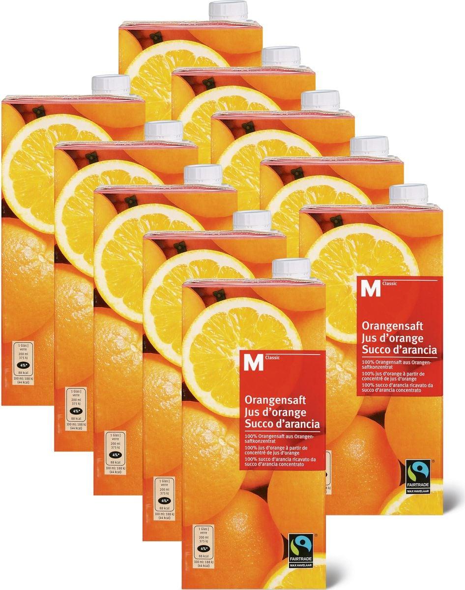 M-Classic Orangensaft im 10er-Pack, Fairtrade