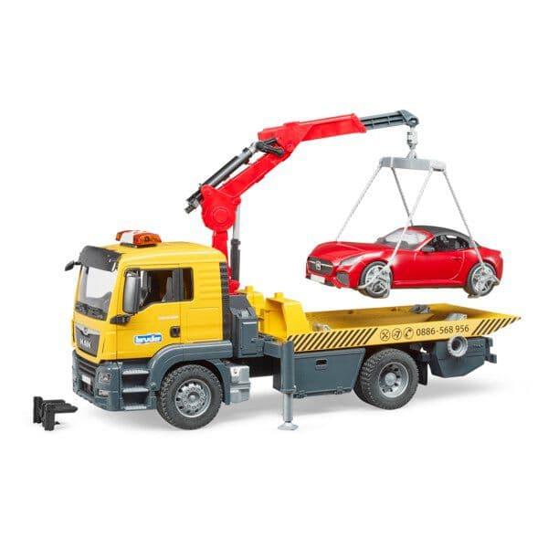 Bruder Camion di rimorchio MAN TGS con roadster Macchinine da collezione