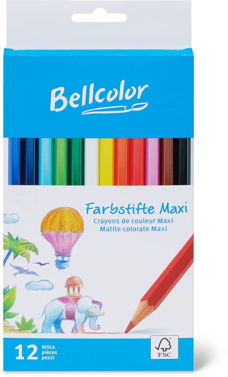 Bellcolor Matite colorate maxi
