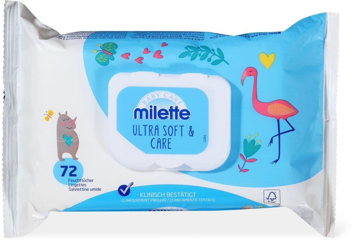 Milette Lingettes humides Ultra Soft & Care