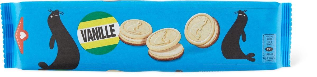 Biscotti con ripieno di crema vaniglia