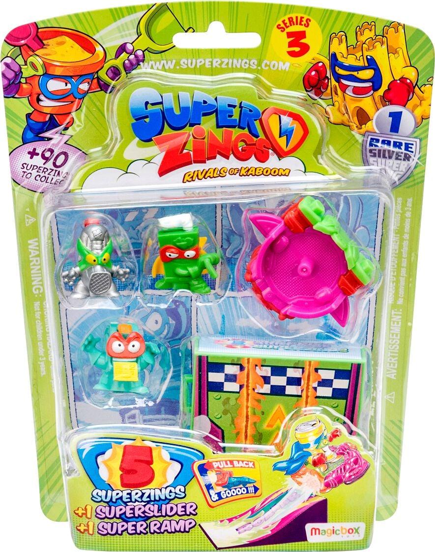 Superzings 3 Blister 5 Sliders Spielfigur