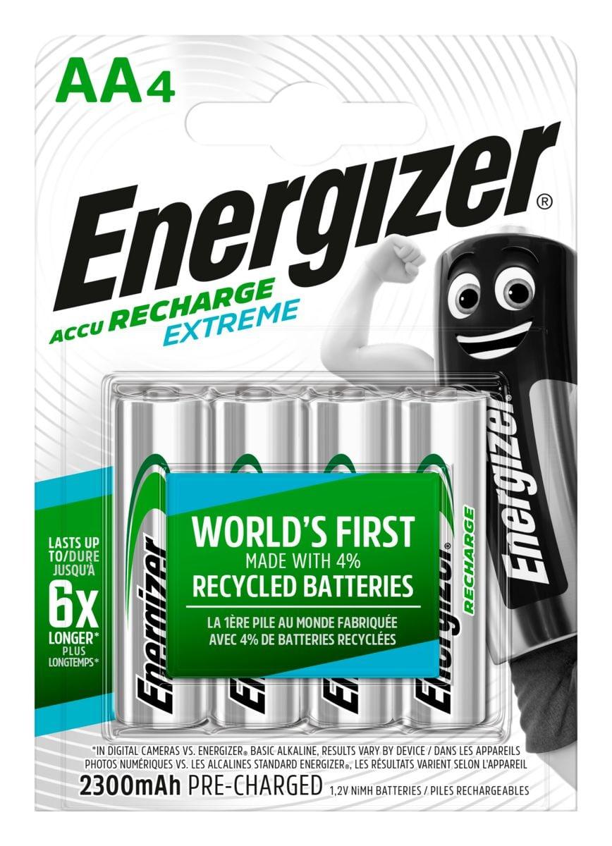 Energizer NiMH-Accu Extreme Mignon (AA), 2300 mAh - 4 pièce