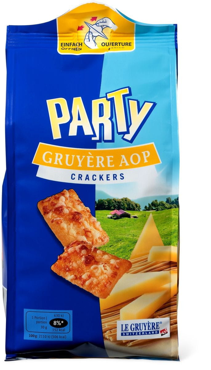 Party Crackers Gruyère