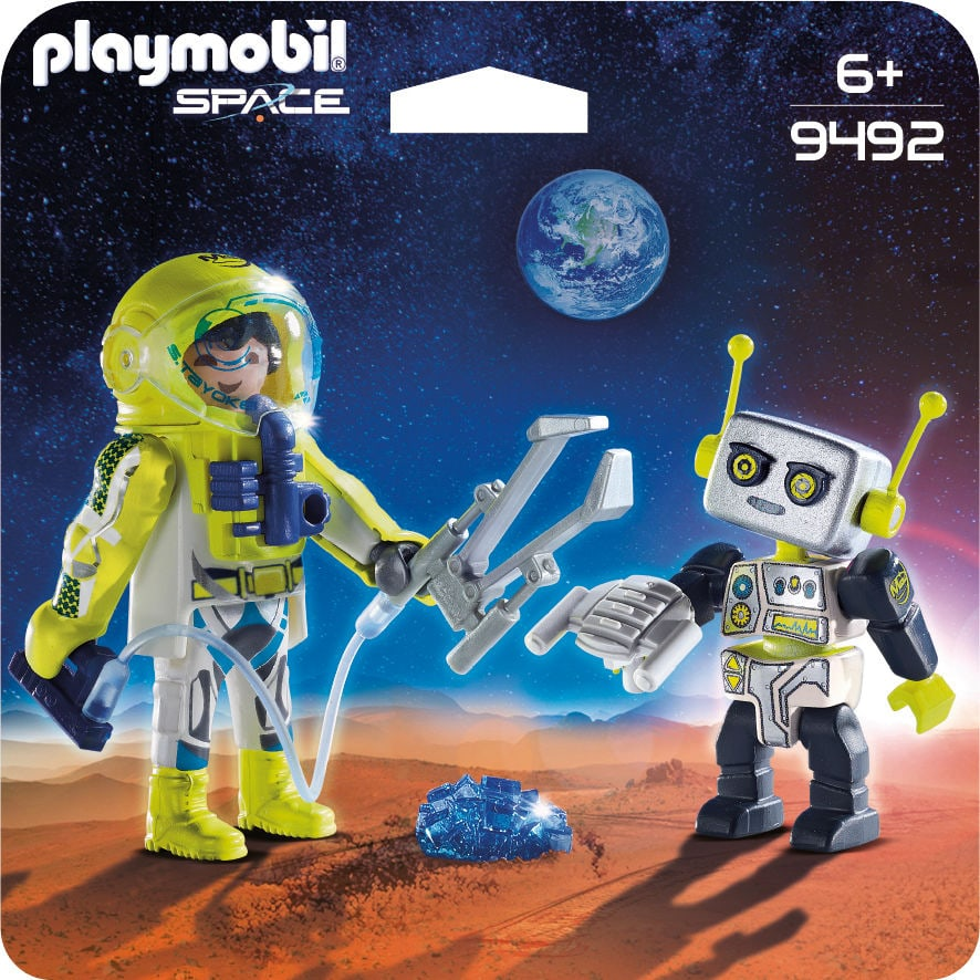 PLAYMOBIL Duo Spationaute et robot