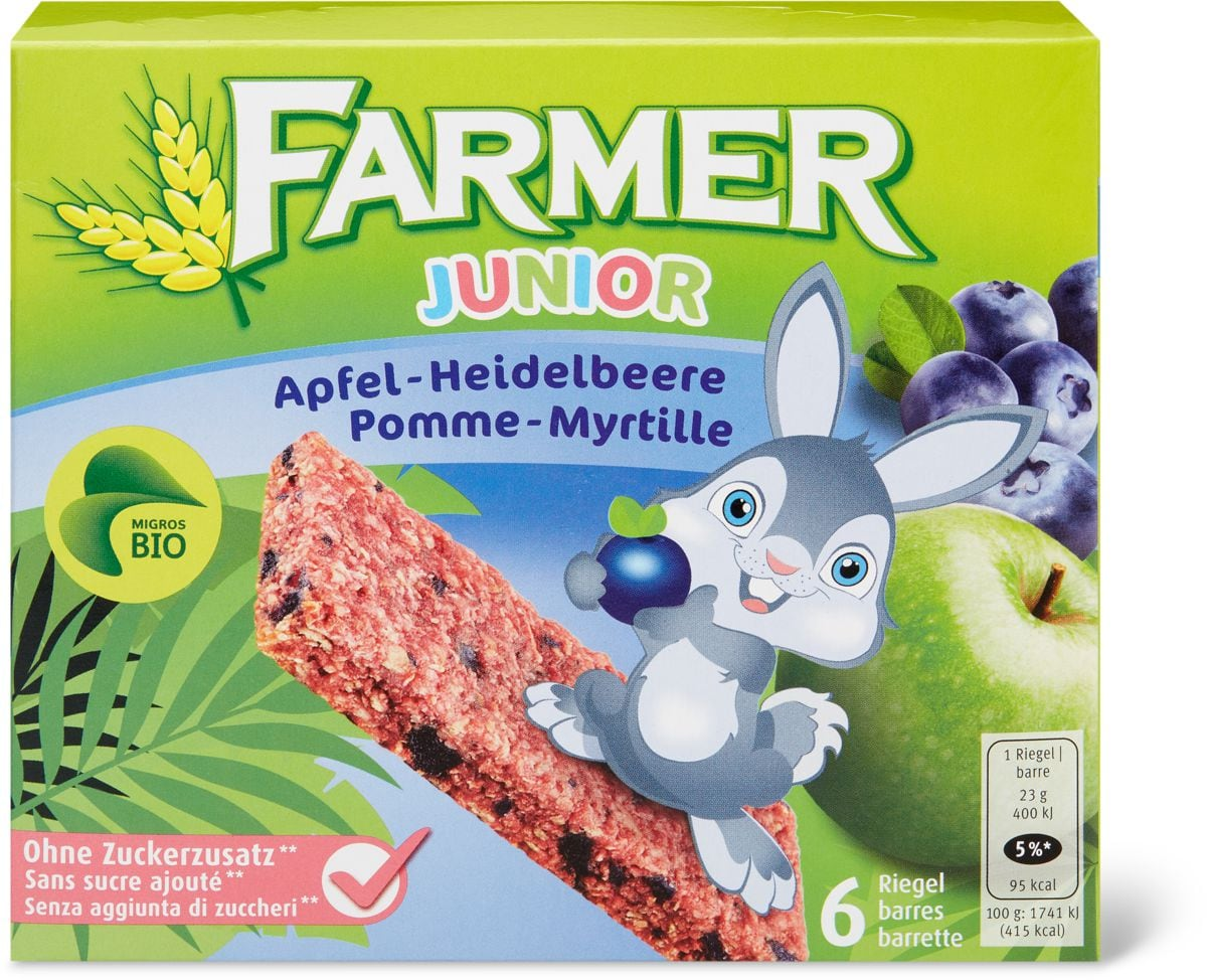 Bio Farmer junior Pomme-myrtille