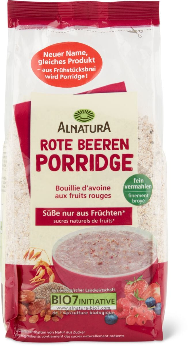 Alnatura porridge Frutti bacche rosse