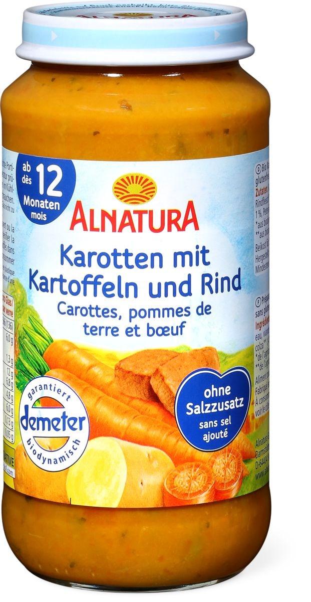 Alnatura Karotten mit Kartoffeln und Rindfleisch