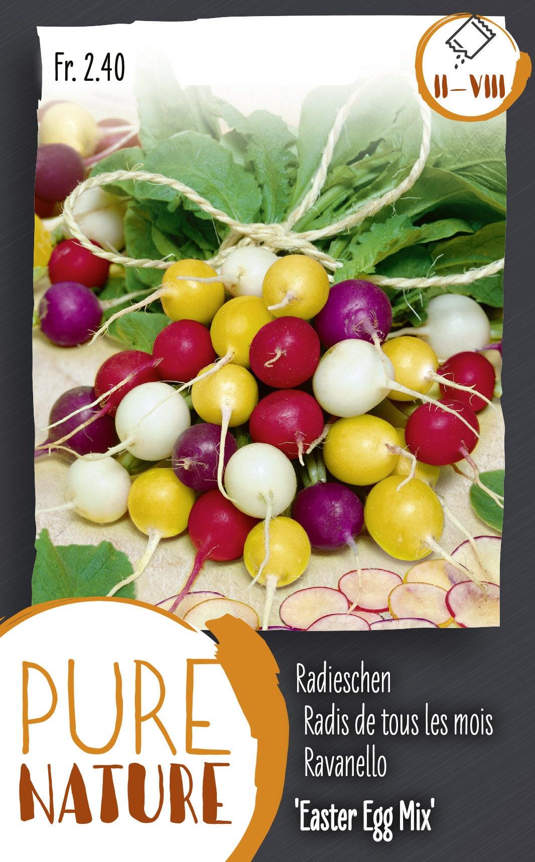 Do it + Garden Radis de tous les mois 'Easter Egg' 5g Semences de legumes