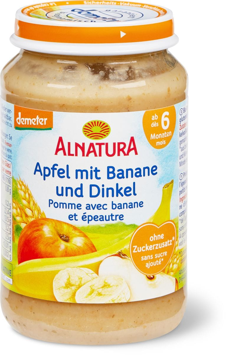 Alnatura Pomme avec banane et épeautre