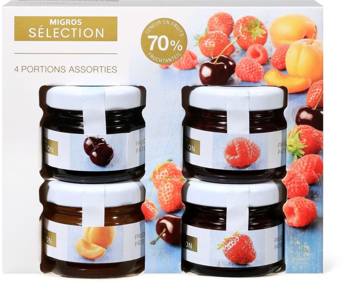 Sélection portions Pâte tartiner fruit