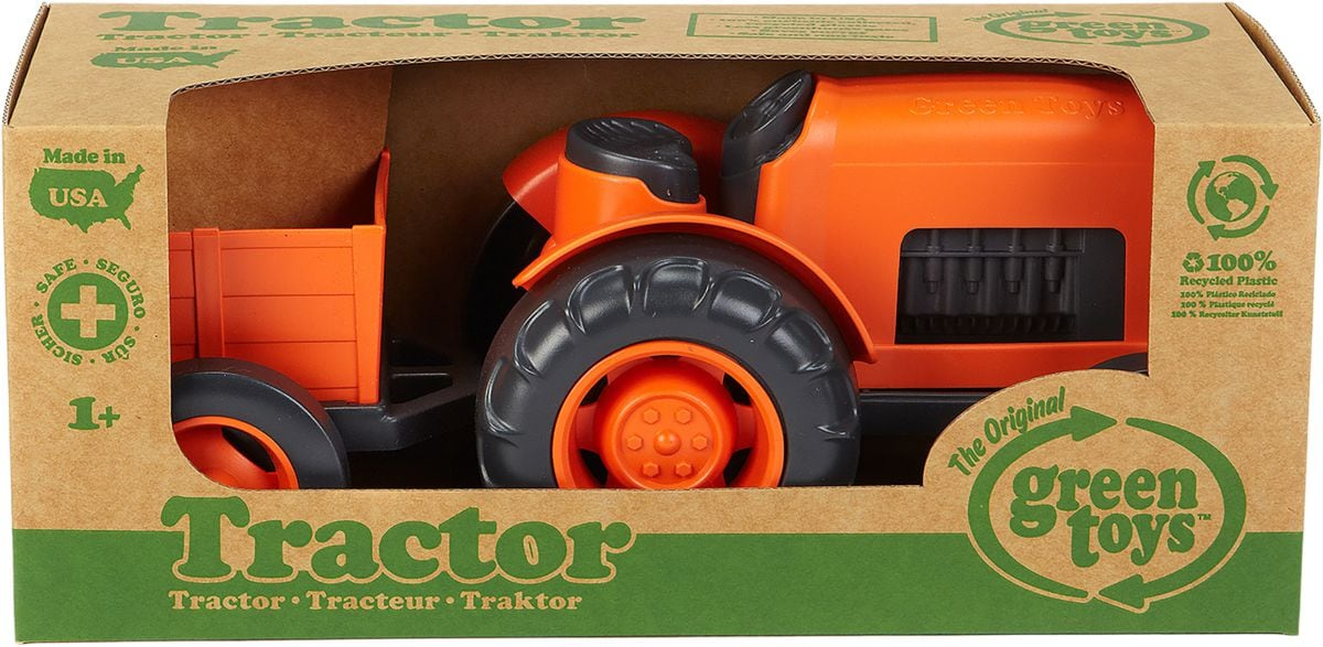 Green Toy Trattore Orange