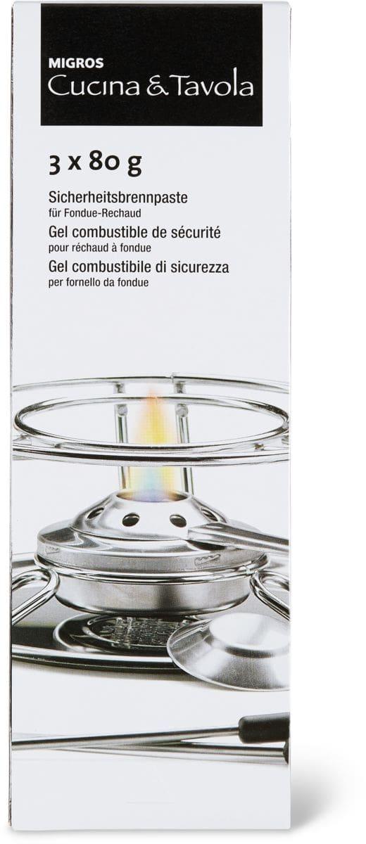 Cucina & Tavola Sicherheitsbrennpaste, 3x 80g