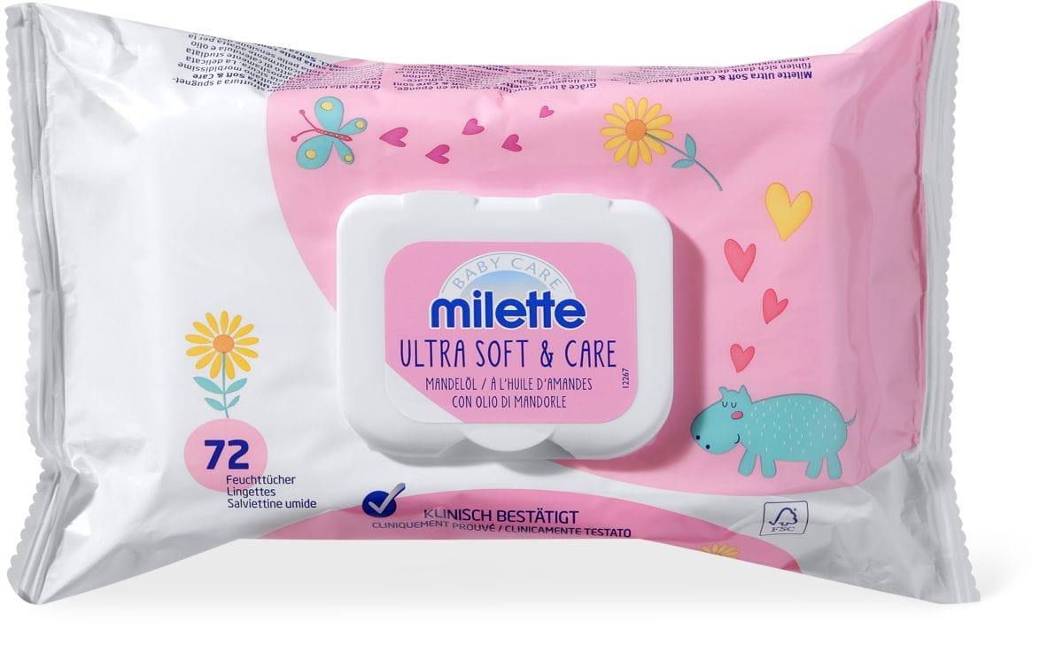 Milette Feuchttücher Ultra Soft & Care Mandelöl