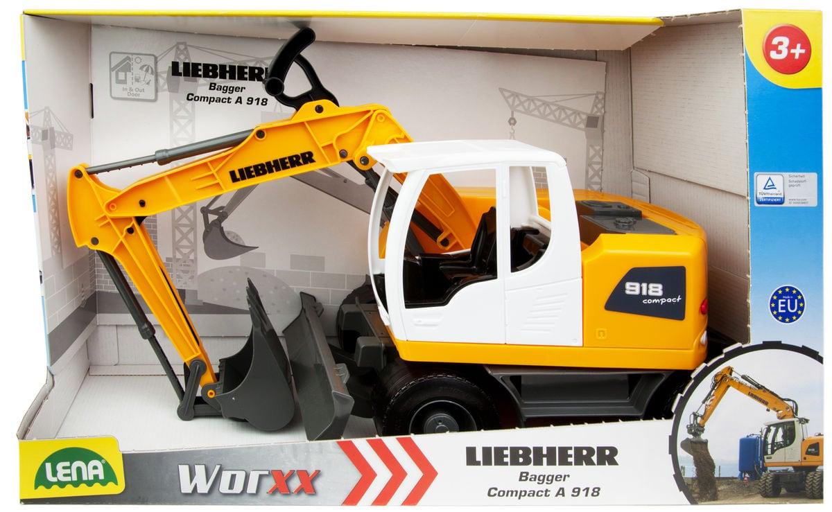 LENA® Worxx Bagger Liebherr Litronic Sandspielzeug