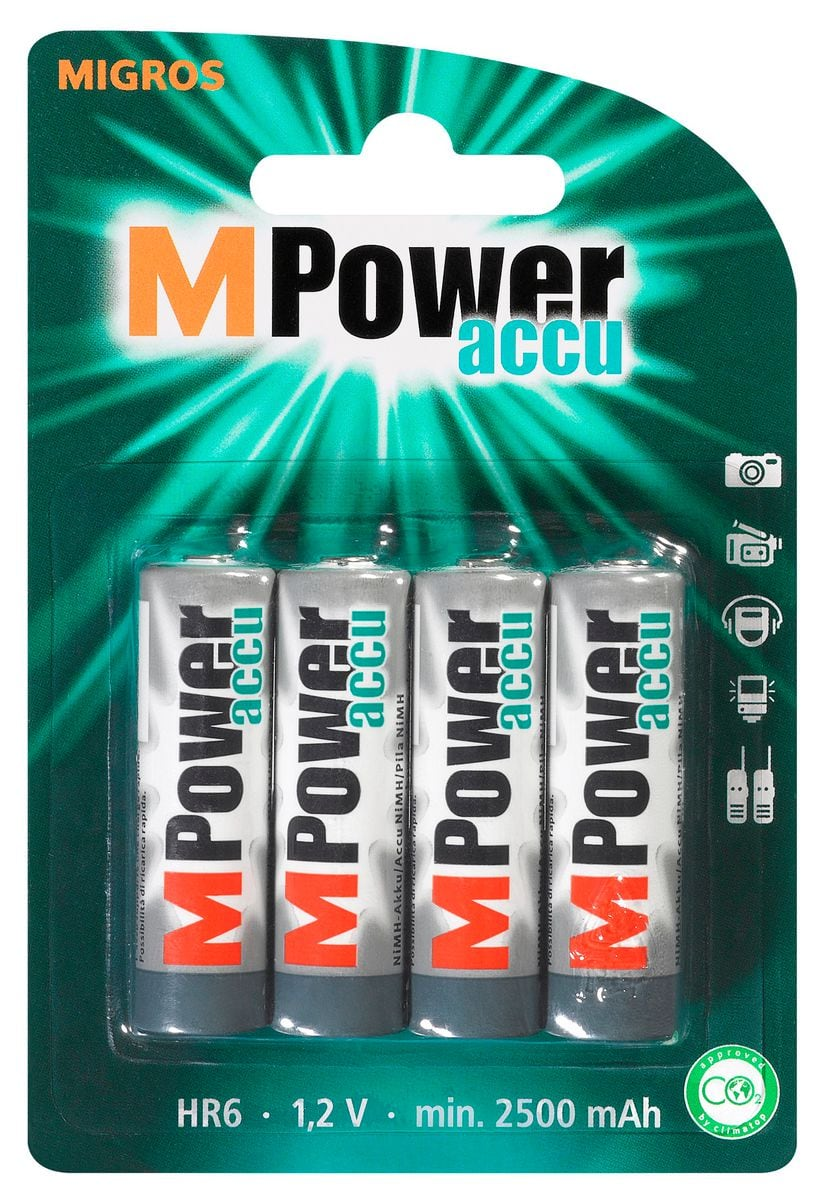 M-Power Akku HR6 1.2V 2500mAh