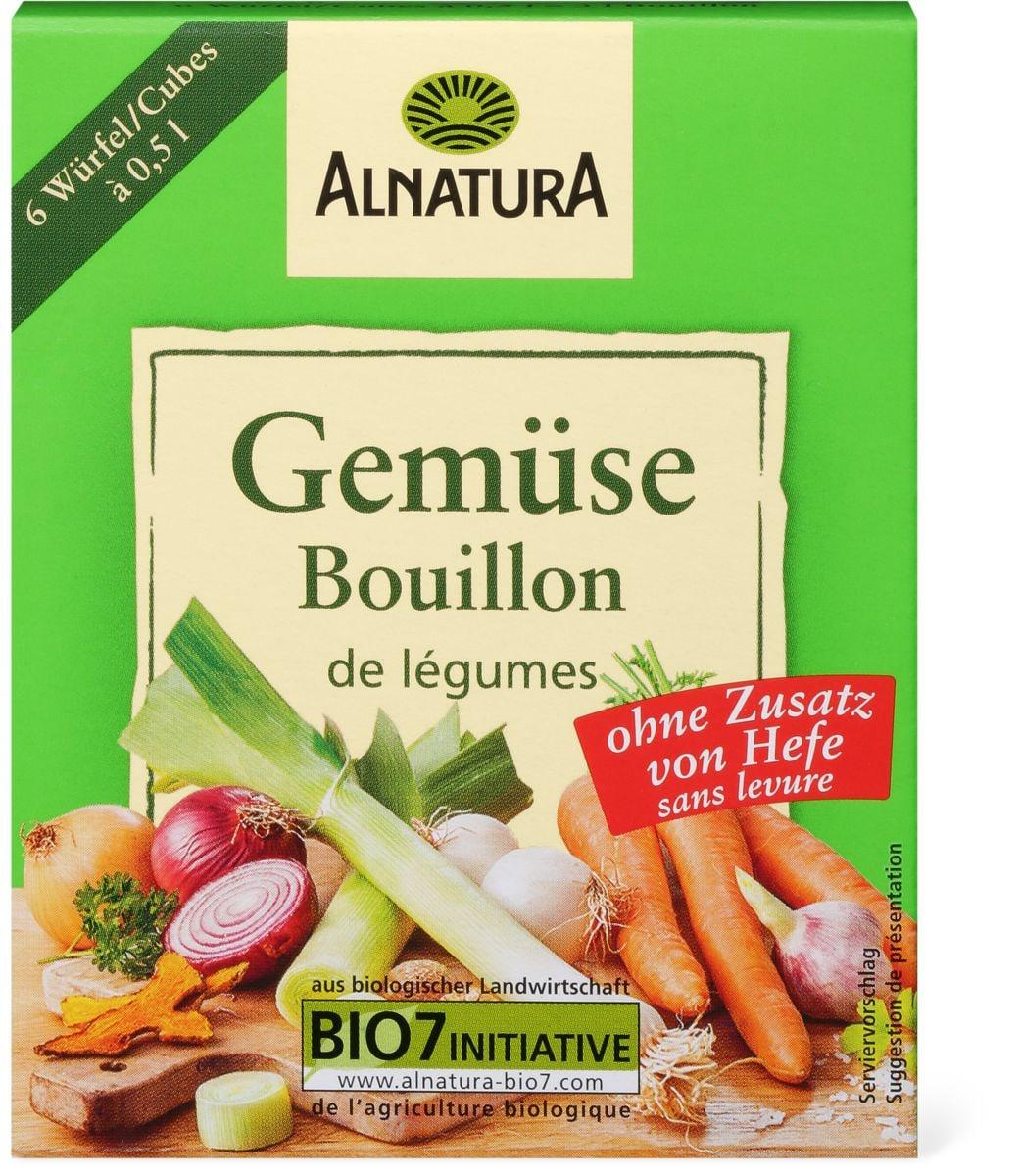Alnatura cubes bouil Légumes sans levure