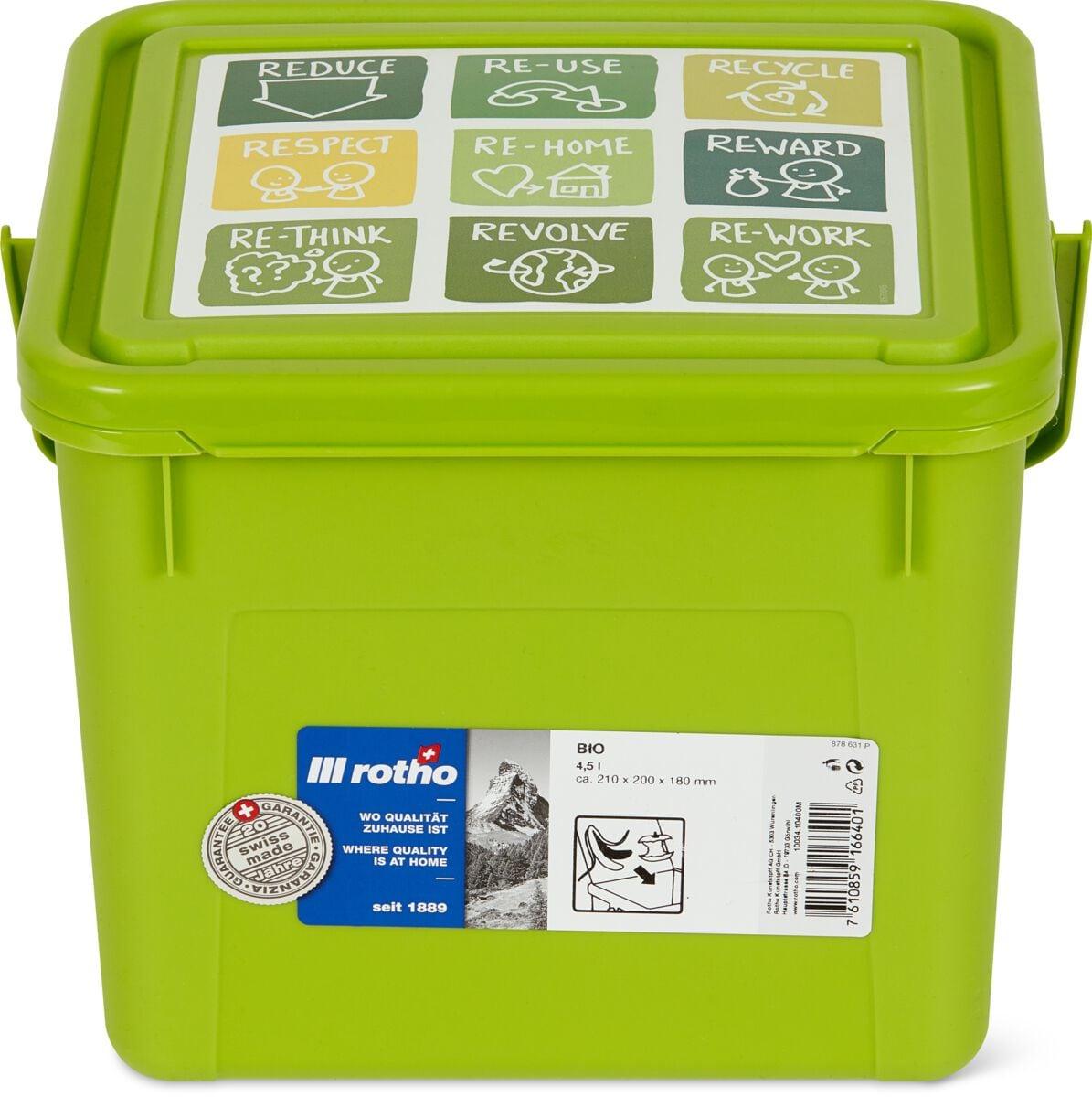 Rotho Seau à compost Bio 4,5 l