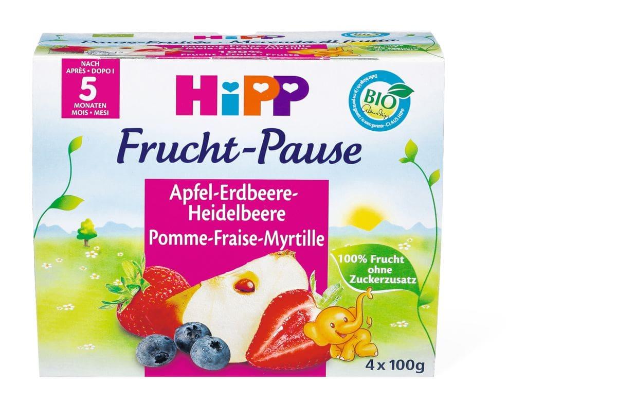 Bio HiPP Fruchtpause Pomme-fraise-myrtille