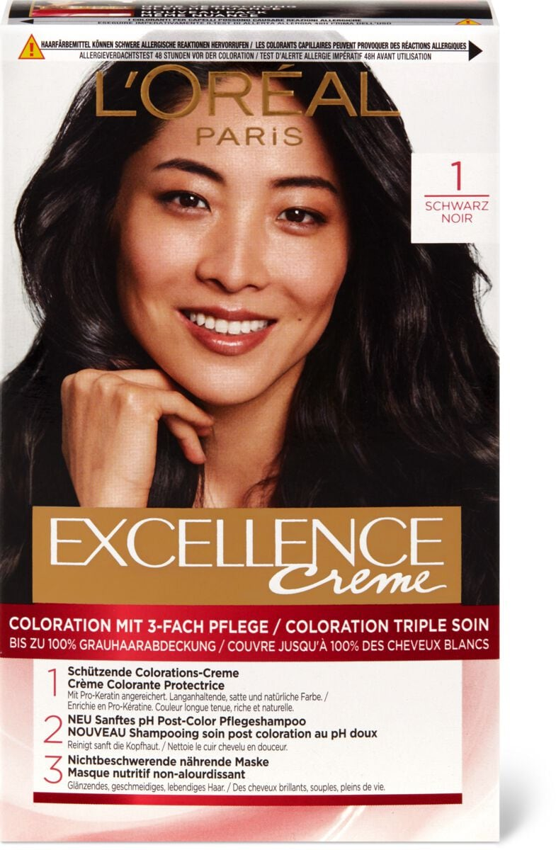 L'Oréal Excellence Creme 1 Schwarz