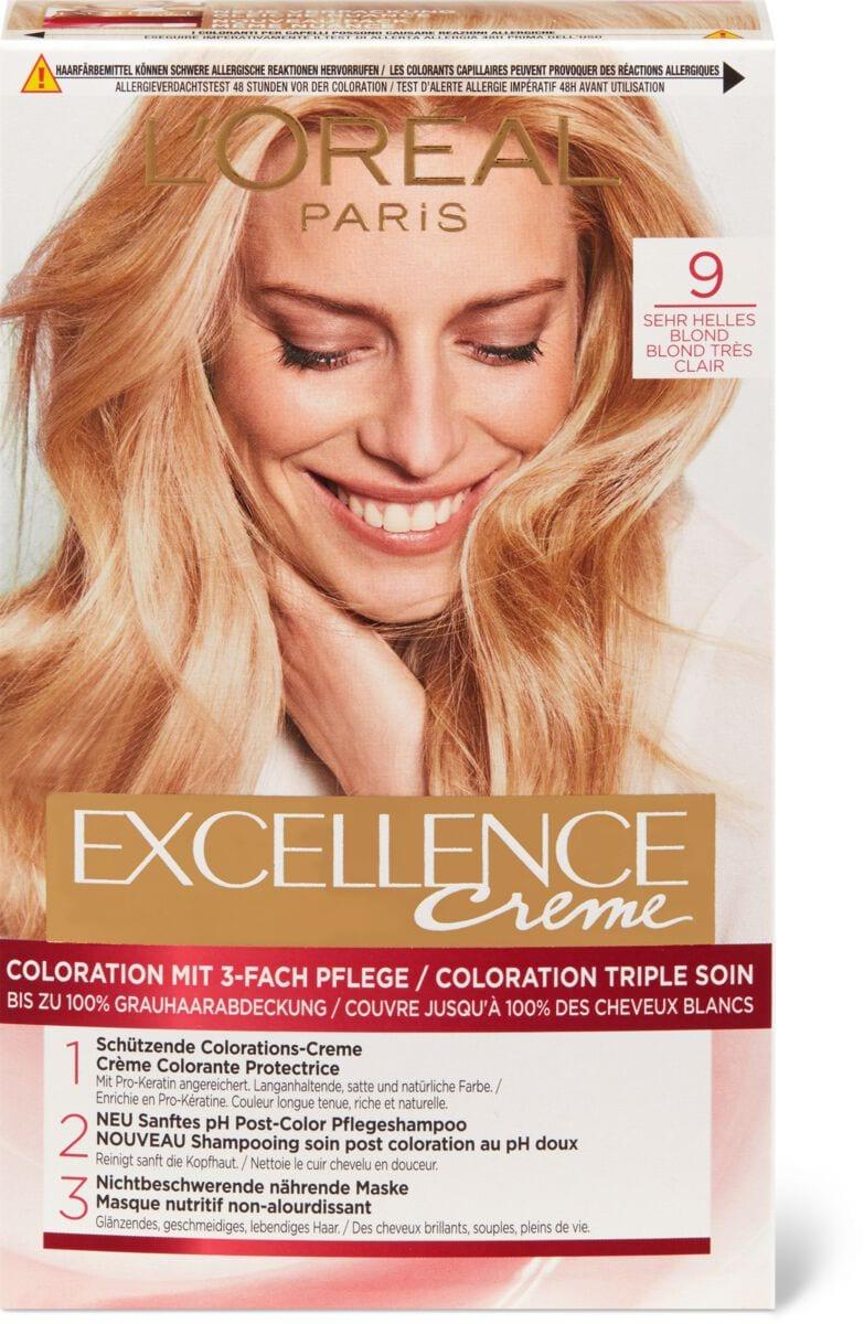 L'Oréal Excellence Creme 9 Sehr Helles Blond