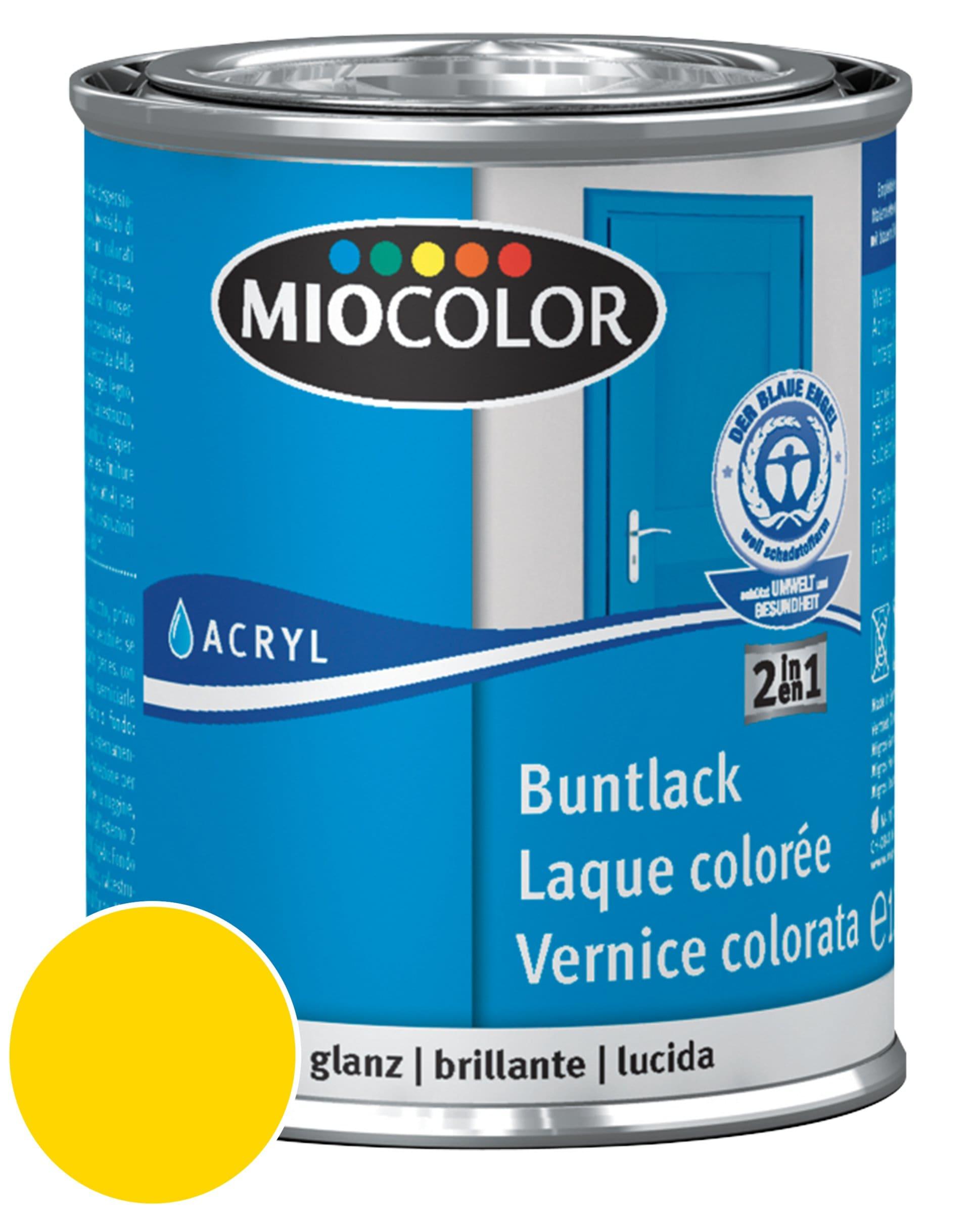 Miocolor Acryl Vernice colorata lucida Giallo navone 375 ml