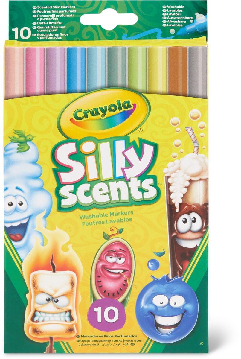 Crayola Silly Scents 10 pennarellos finos
