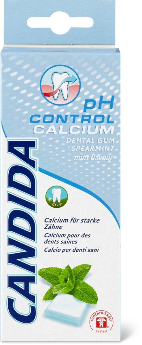 Candida dental gum pH control-calcium