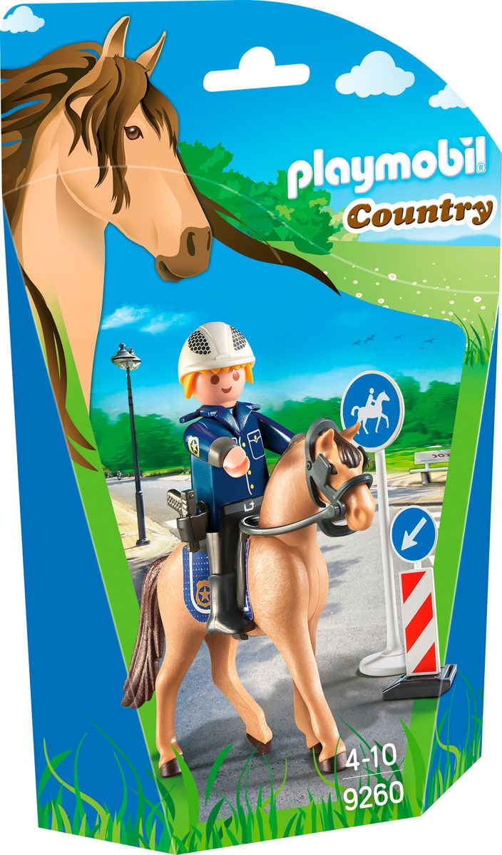 Playmobil Country Policier avec cheval  9260