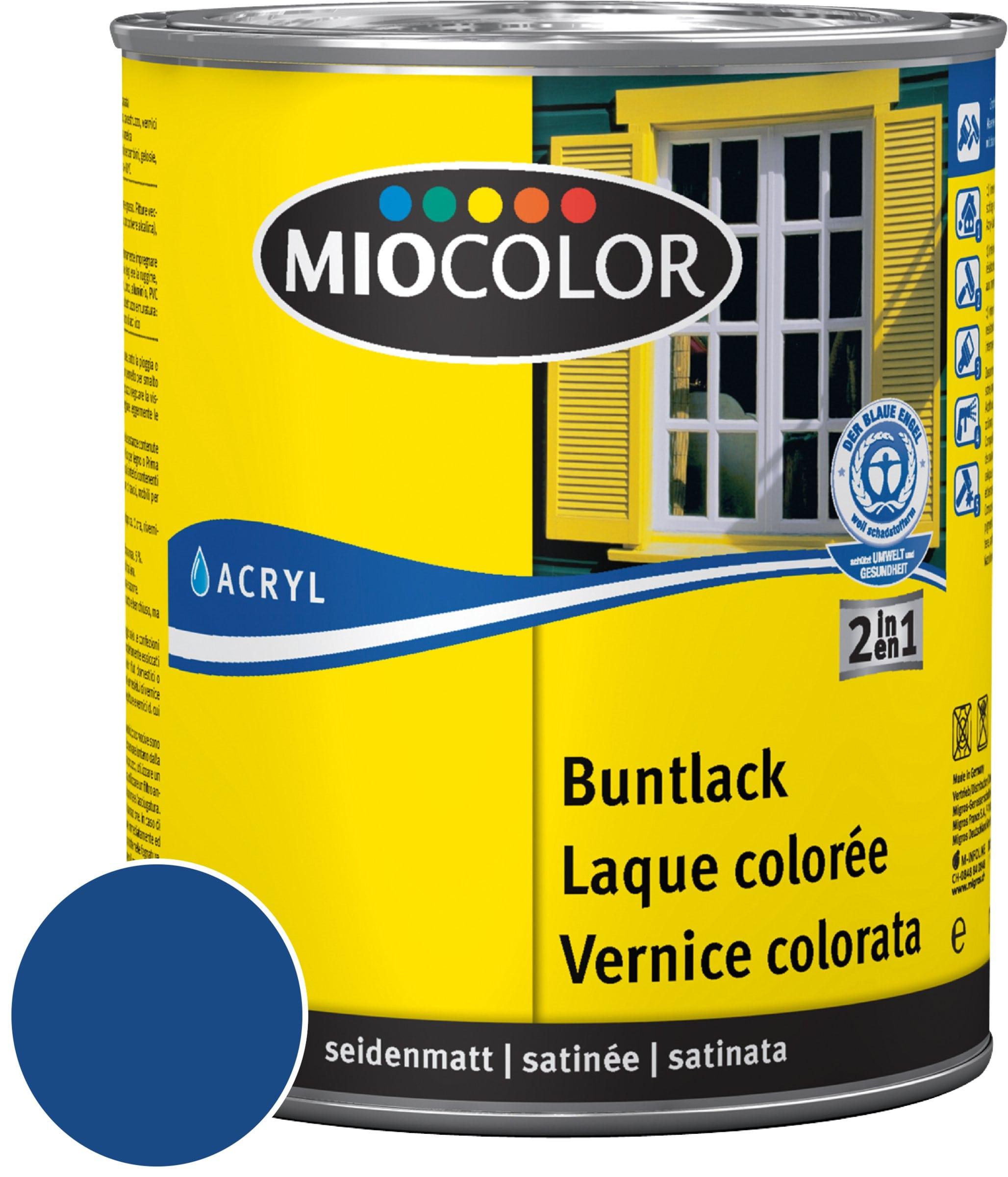 Miocolor Acryl Vernice colorata satinata Blu genziana 125 ml