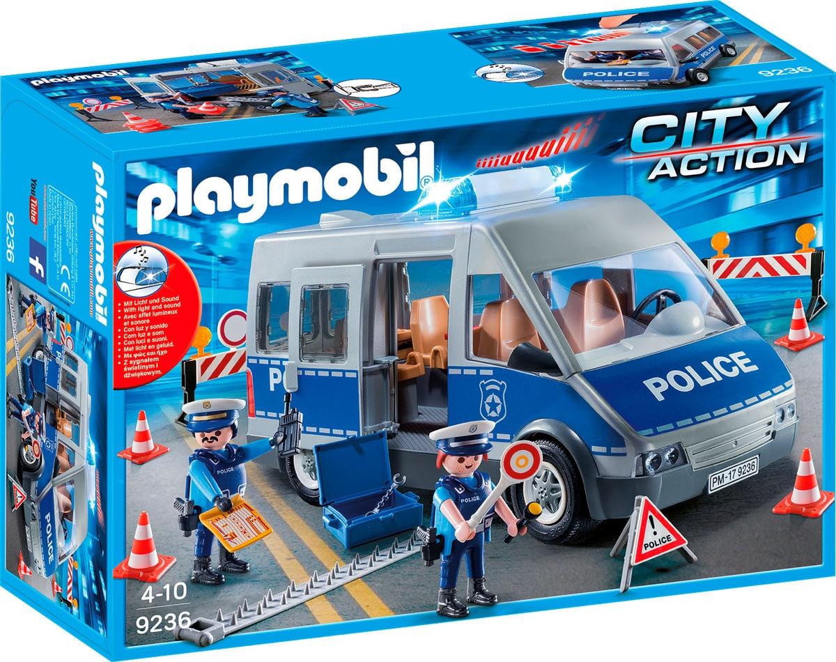 Playmobil City Action Fourgon de policiers avec matériel de barrage 9236