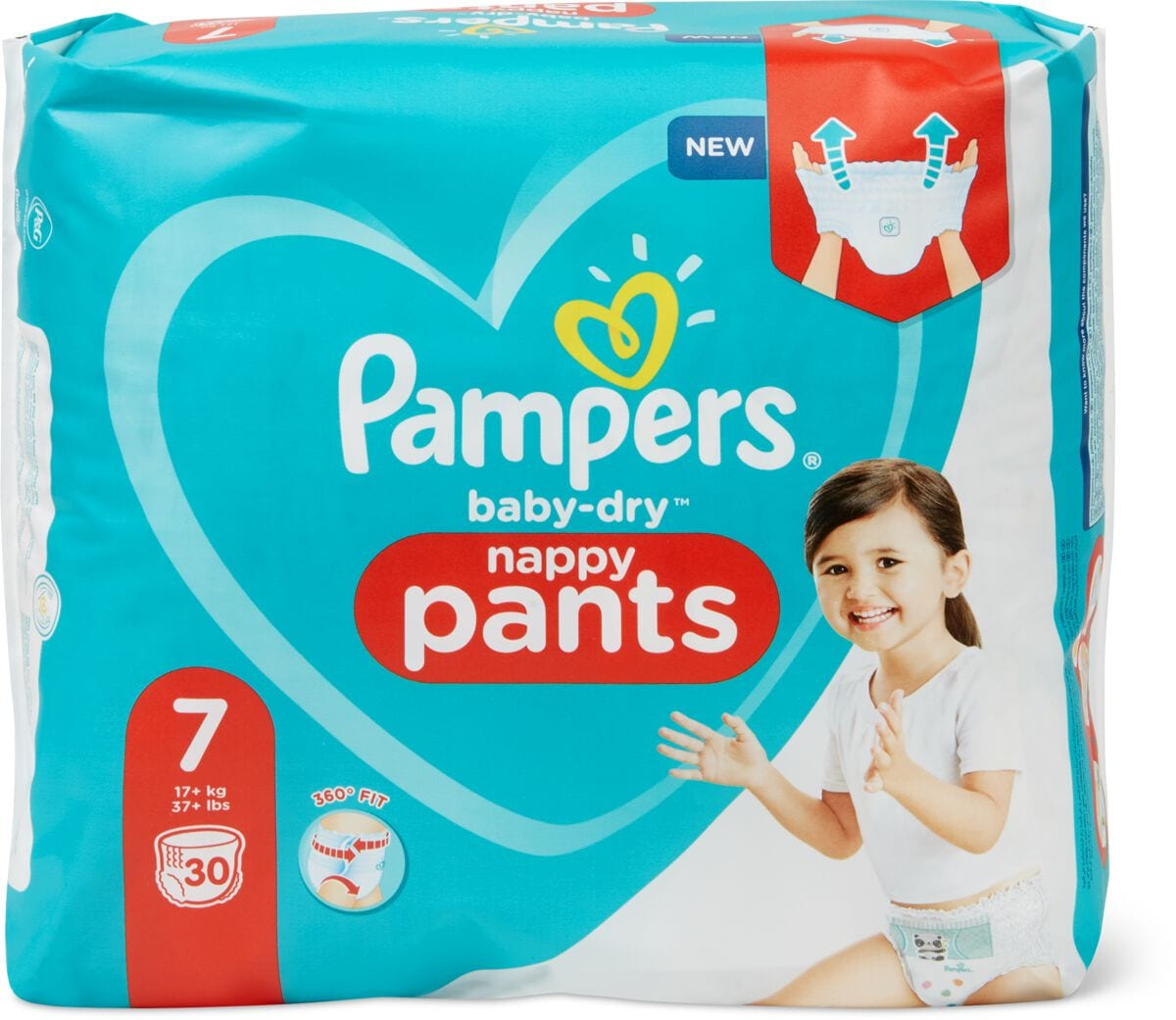 Pampers Baby Dry Pants Gr. 7, Extra Large Plus 17+kg