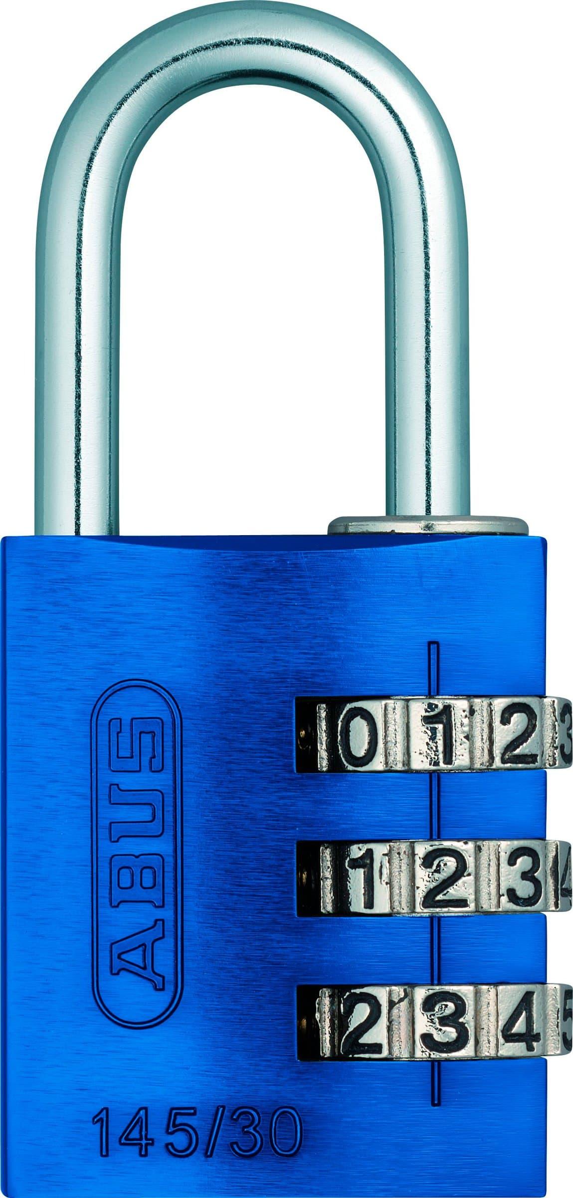 Abus Zahlenschloss 145/30 Blau