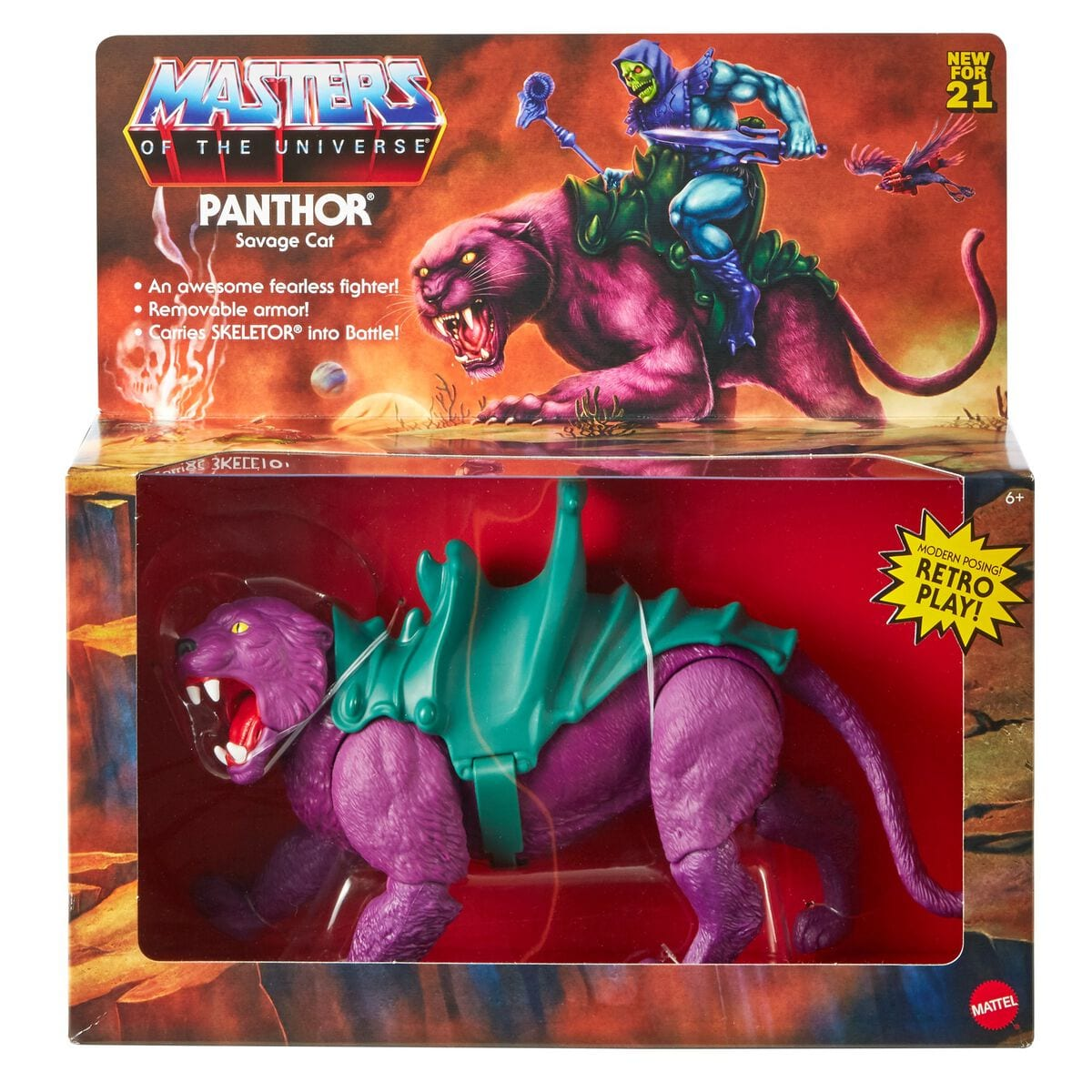 Mattel Master of the Univer GVN49 Panthor Spielfigur