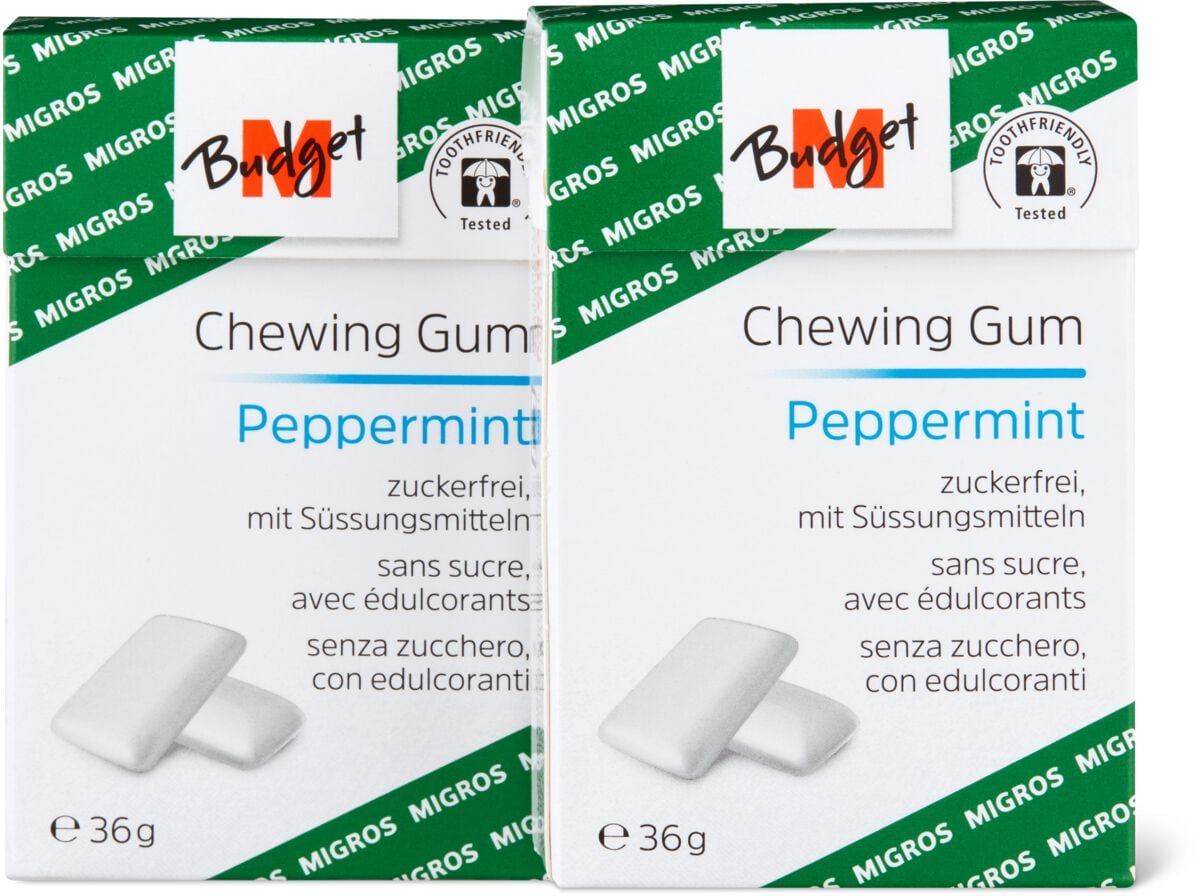 M-Budget Chewing Gum Peppermint