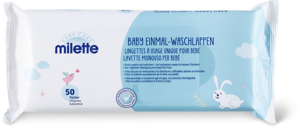 Milette Lingettes à usage unique pour bébé