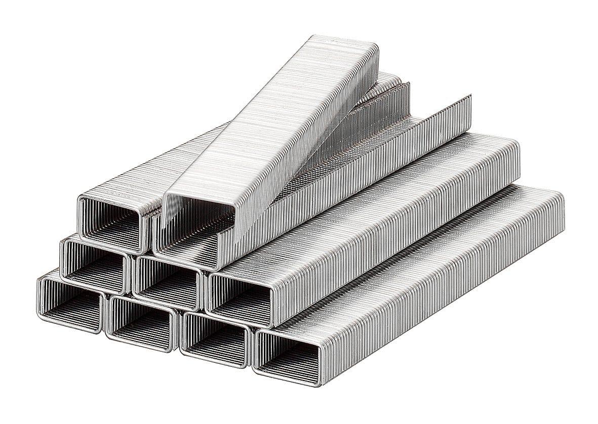 kwb Klammern, Feindraht, Stahl, 11,4 mm x 8 mm Klammern, 11,4 mm breit, Feindraht, Stahl