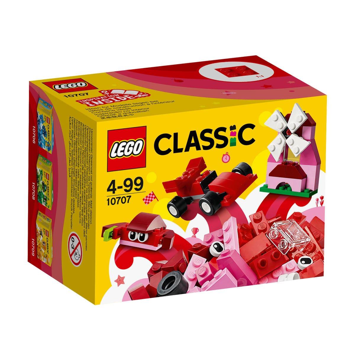 LEGO Classic Scatola della Creatività Rossa 10707