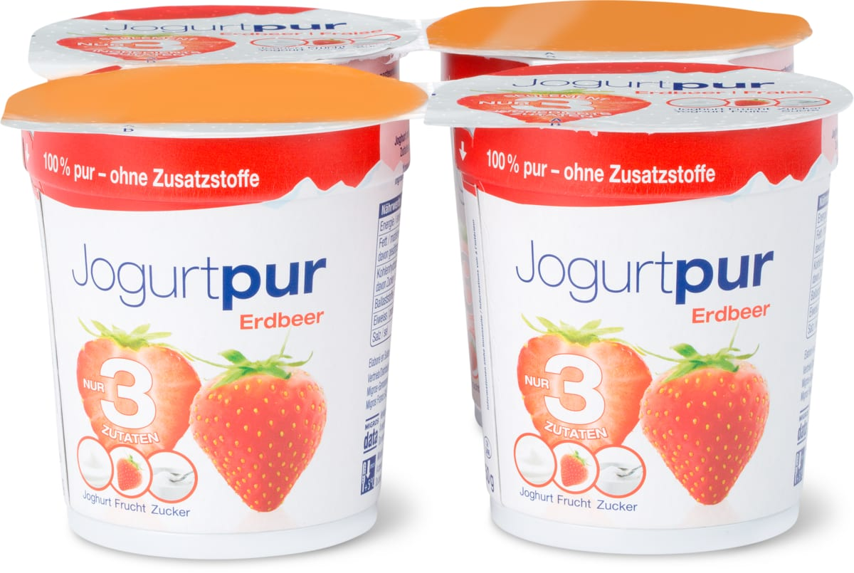Alle Jogurtpur im 4er-Pack, 4er-Pack- Bei allen Angeboten sind M-Budget und bereits reduzierte Artikel ausgenommen.