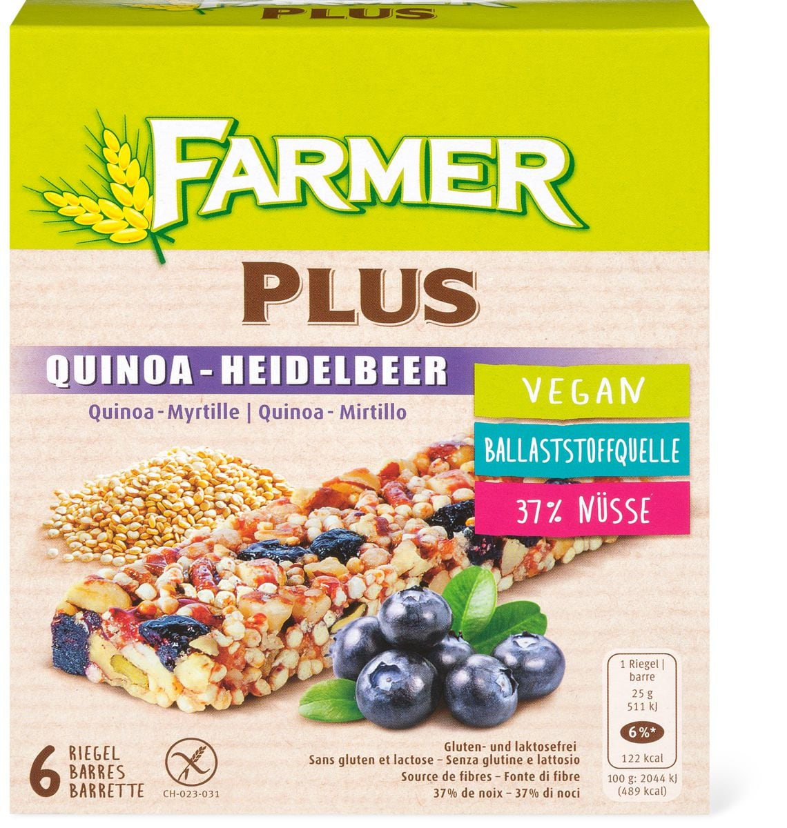 Farmer Plus Quinoa-mirtillo