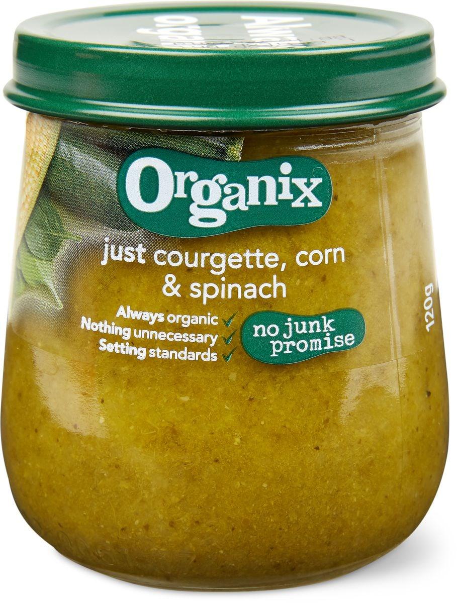 Organix zucchina mais spinaci