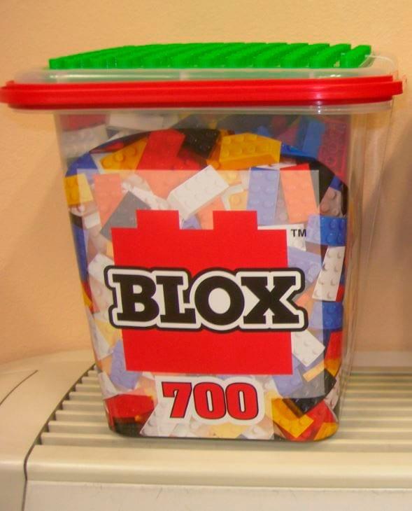 BLOX Secchio Grande con 700 Pezzi BLOXS, 5 colori