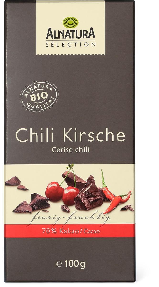 Alnatura cioccolato Peperoncino e kirsch