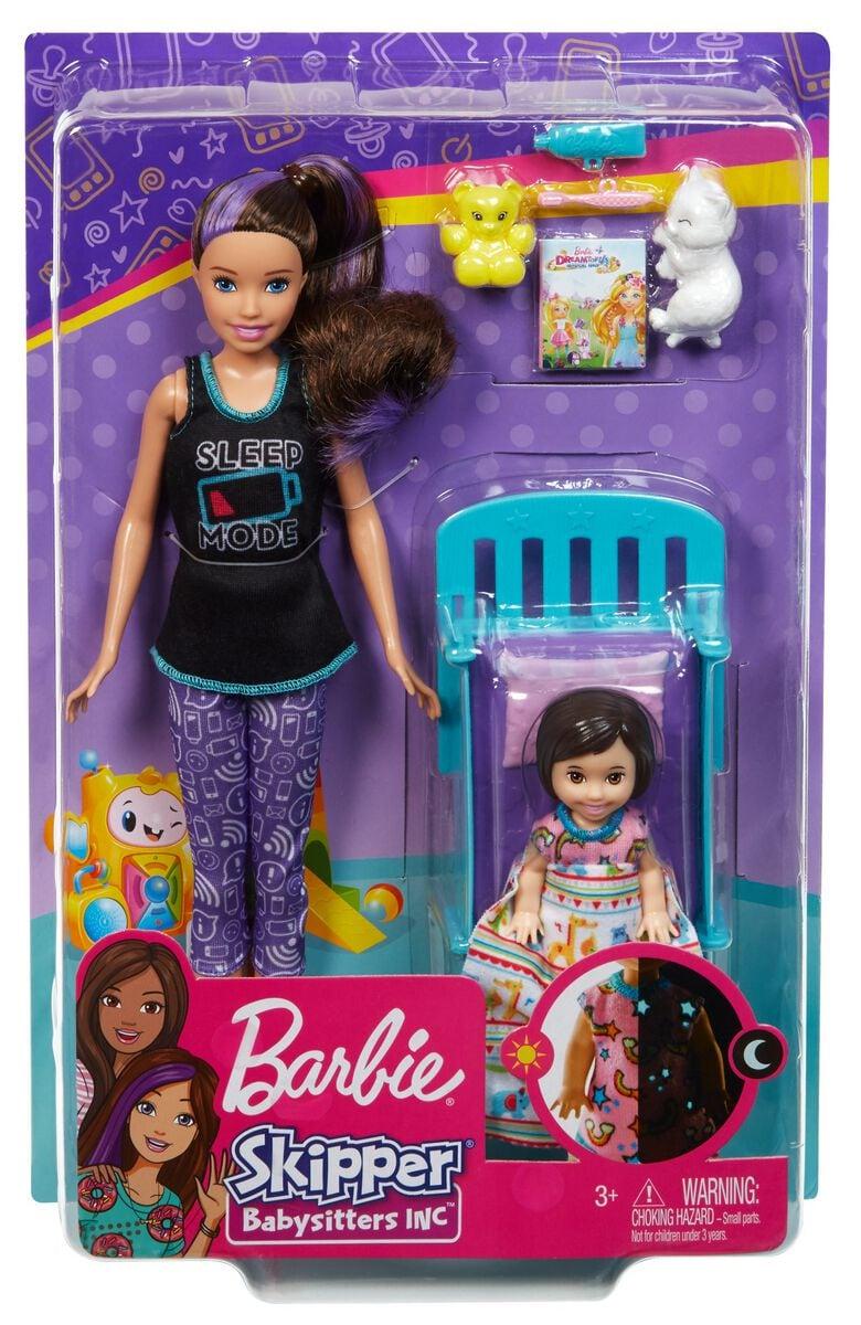 Barbie GHV87 Skipper Babysitter Playset Puppenset