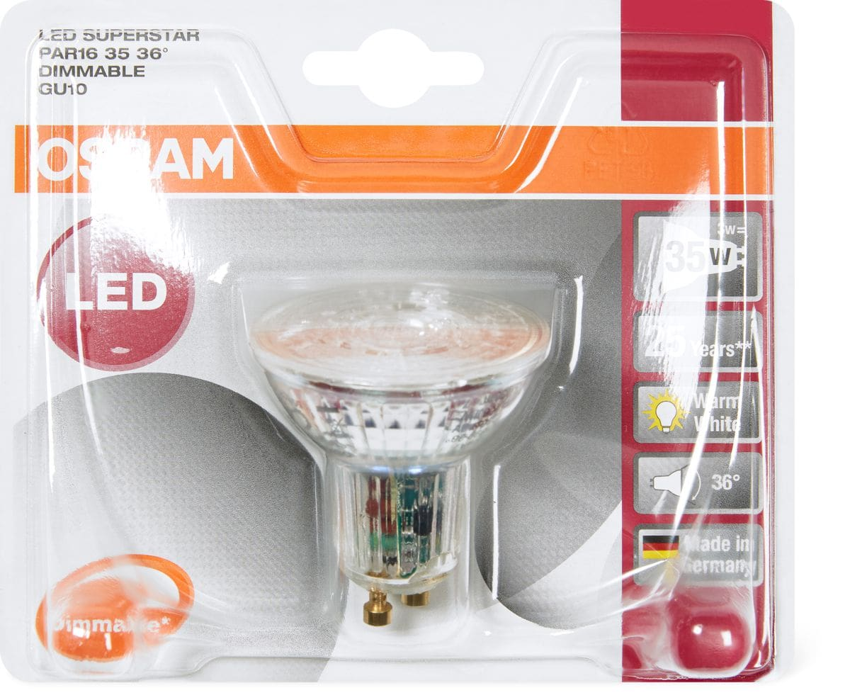 OSRAM LED SUPERSTAR PAR16 35 GU10