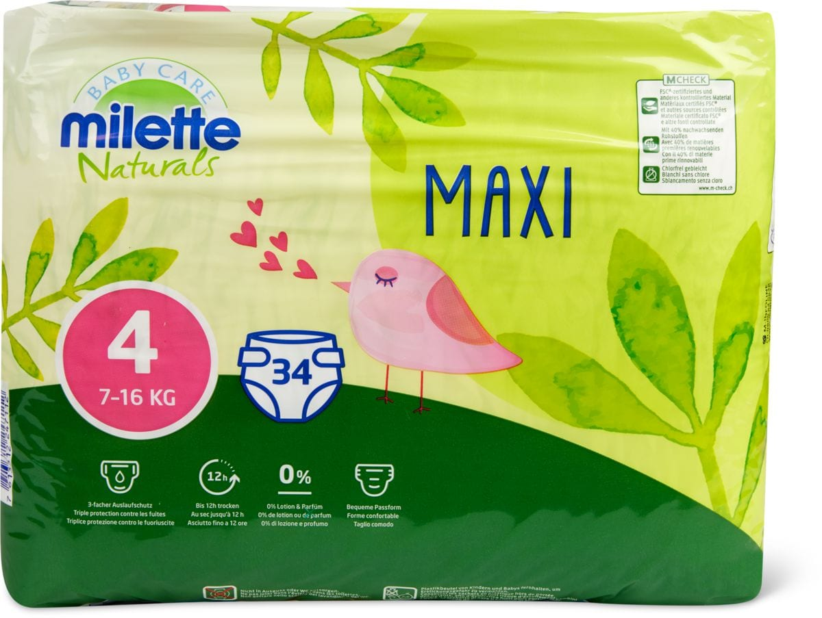 Milette Naturals Maxi 4, 7-16kg