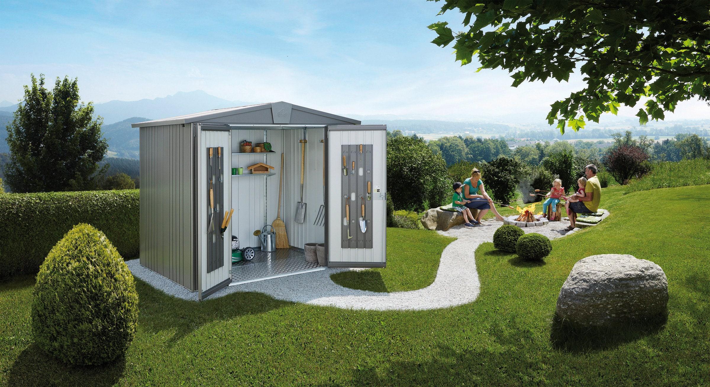 biohort casetta per attrezi europa 4 migros. Black Bedroom Furniture Sets. Home Design Ideas