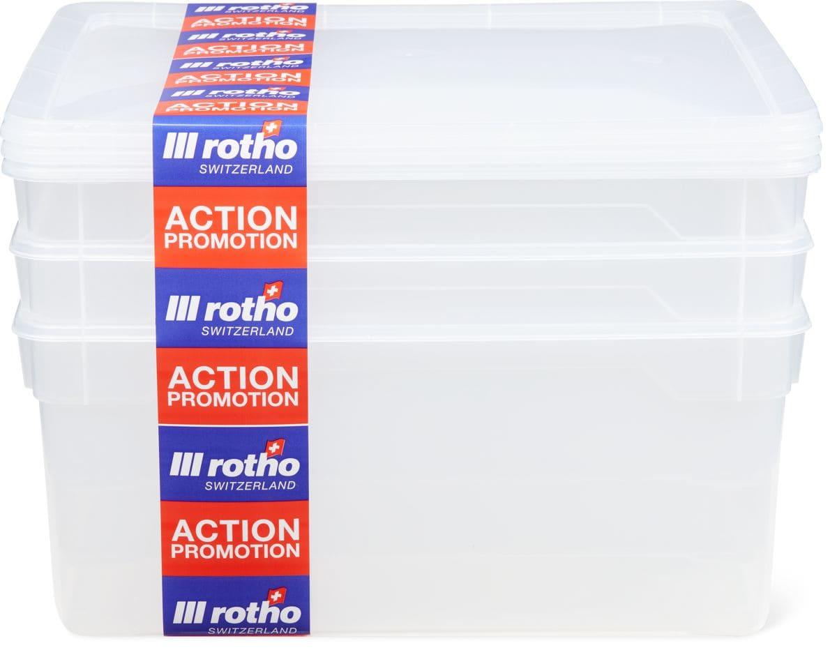 Rotho Clearboxen in Mehrfachpackungen