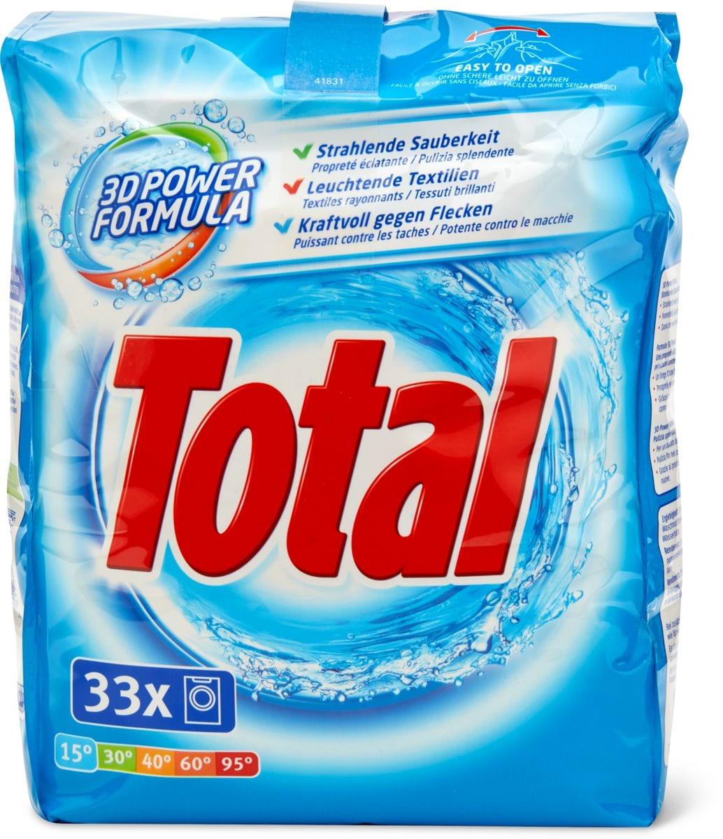 Total Produit de lessive complet pour linge blanc et couleurs claires