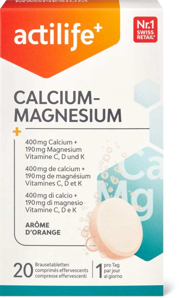 Actilife calciummagnésium orange